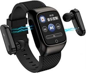 2-In-1 Smart Watch TWS Earbuds Fitness Tracker True Wireless Bluetooth 5.0 Headphones Pedometer Calorie Counter Activity Tracker Smart Bracelet Wrist Band Heart Rate