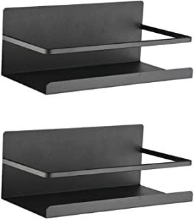 Magnetic Spice Rack Refrigerator Magnetic Shelf Single Tier Fridge Spice Rack Organizer Magnetic Refrigerator Spice Rack Great Space Saver for Holding Spices
