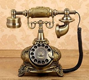 Retro Landline Phone Retro Vintage Classic Phone Rotary Dial Landline Telephone Antique Style Telephone Old Fashioned Corded Telephone For office living room