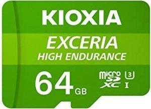 KIOXIA 64GB microSD HIGH ENDURANCE Memory Card UHS-I Class10
