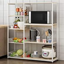 4-Tier Kitchen Microwave Oven Stand Shelf Kitchen Rack Storage Kitchen Space Save Shelves for Vegetable