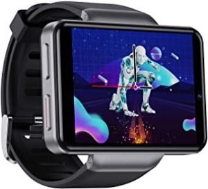 Ametoys DM101 4G Smart Watch WiFi GPS BT Smartwatch 2.41-inch Touch Screen Android 7.1 3GB+32GB IP67 Waterproof Support Nano SIM Card Heart Rate Tracker Pedometer (S-32G)