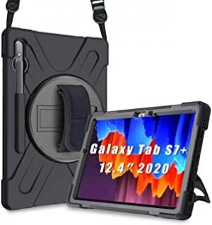 "ProCase Galaxy Tab S7 Plus 12.4"" 2020 Case with S Pen Holder (Model SM-T970/T975/T976)"