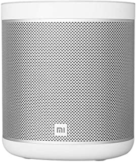 Xiaomi Smart Speaker With Built-in Google Home Mi AI Smart Wireless Wifi Bluetooth Speaker Metal LED Light Strip DTS Tuning Stereo Subwoofer (White)