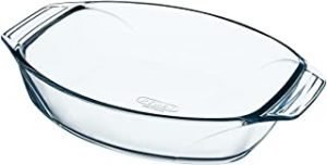 pyrex 412B000/6114 40 x 28 cm Large Optimum Glass High Resistance Easy Grip Oval Roaster