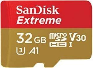 SanDisk 32GB Extreme microSD UHS-I U3 A2 100MB/s- SDSQXAF-032G-GN6MN