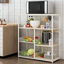 4-Tier Kitchen Storage Rack Shelves Microwave Ovens Stand Utensils Holder