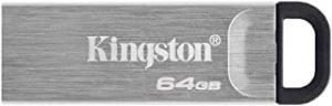 Kingston 64GB DataTraveler Kyson USB Flash Drive USB 3.2 Gen 1 speeds Metal DTKN/64GB