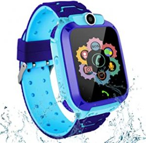 Kids Smartwatches for Boys Girls - GPS Fitness Tracker Watch for Children with Game Phone Voice Chat Alarm Clock Camera Flashlight Children Birthday Christmas Blue