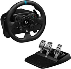 Logitech G923 Racing Wheel and Pedals for Xbox One and PC featuring TRUEFORCE up to 1000 Hz Force Feedback