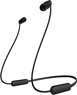 Sony WI-C200 Wireless In-ear Bluetooth Headphones with Mic for phone call and upto 15 hours of battery life - Black