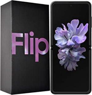 Samsung Galaxy Z Flip SM-F700F/DS 256GB Factory Unlocked Android 4G/LTE Smartphone - International Version (Mirror Purple)
