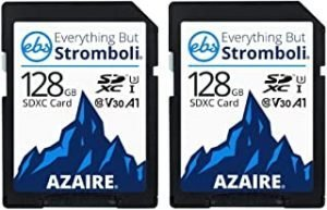 Everything But Stromboli 128GB SD Cards Class 10 UHS-1 U3 Speed C10 V30 128G SDXC Memory Card Storage for Compatible Camera