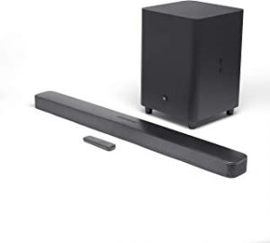 "JBL JBLBAR51IMBLKUK JBL Bar 5.1 Surround - 5.1 Channel soundbar with built-in Wi-Fi and 10"" wireless subwoofer - (Pack of1)"