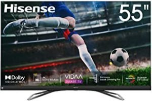 Hisense 55inch 55U8QF 4K ULED Ultra HD Smart TV VIDAA 4.0 Ultra HD Premium Certificate Quantum Dot color Dolby Vision Dolby ATMOS JBL Front-firing speaker Blutooth 5.0 Wifi Shahid VIP OSN