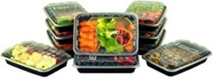 ISO Meal Prep Containers with Lids Certified BPA-Free Stackable Reusable Microwave/Dishwasher/Freezer Safe 12 oz