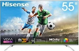 Hisense 55inch 55U7WF 4K ULED Ultra HD Smart TV VIDAA 4.0 Wide Color Gamut Dolby Vision DTS Virtual X Blutooth 5.0 Wifi Shahid VIP OSN