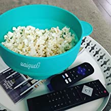 Original uniqueG Microwave Popcorn Maker | GIFT: uniqueG popcorn Gift E-book | 100% Silicone Popcorn popper | Hot Air Popcorn Machine | Collapsible Healthy Popcorn Bowl | FDA Approved. (turquoise)