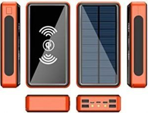 Solar Power Bank Qi Wireless Portable Solar Power Bank Panel Charger