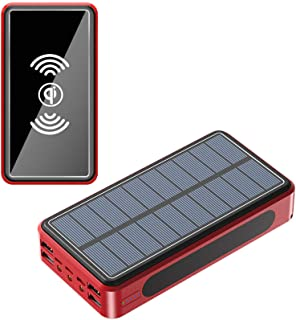 100000Mah Solar Wireless Power Bank Charger Fast Charging - 4 USB Ports
