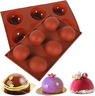 ALANTOR BPA Free Round Silicone Molds for Chocolate Bomb