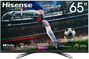 Hisense 65inch 65U8QF 4K ULED Ultra HD Smart TV VIDAA 4.0 Ultra HD Premium Certificate Quantum Dot color Dolby Vision Dolby ATMOS JBL Front-firing speaker Blutooth 5.0 Wifi Shahid VIP OSN