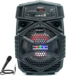 FLEXY® Germany 300W Portable Trolly 2 -Way Portable PA System Speaker With FM