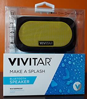 Vivitar Waterproof Bluetooth Speaker VS60011BT-YEL Speaker for the Shower/Bath/Jacuzzi/Swimming Pool (Black/Yellow) UK