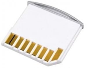 Cablecc Cablecc Micro SD TF to SD Card Kit Mini Adaptor for Extra Storage Macbook Air/Pro/Retina White