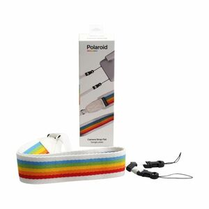 Polaroid Flat Rainbow Grey Camera Strap