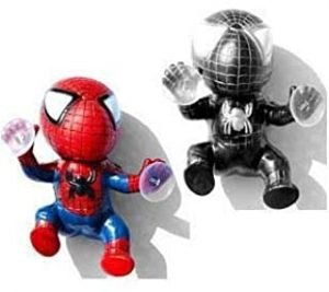 Spiderman doll spider sucker black red car decoration interior trim accessories 2 pcs