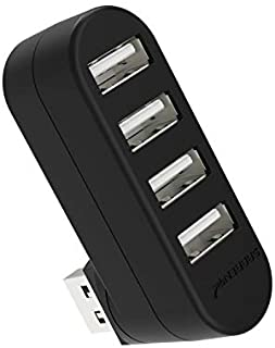 Sabrent 4-Port USB 2.0 Rotatable Hub [90°/180° Degree Rotatable] (HB-UMN4)
