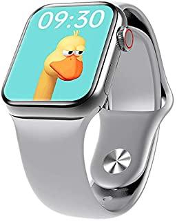 HW12 Full Screen Smart Watch 40MM/44MM Women Men Smartwatch Split Screen Bluetooth HD Call Play Music Sport Wrist (Silver)