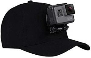 PULUZ Baseball Hat with J-Hook Buckle Mount & Screw for GoPro HERO /HERO6 /5/5 Session /4 Session /4/3+ /3/2 /1