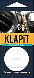 KLAPiT Cell-Mount (White) - Universal Magnetic Phone Holder for car