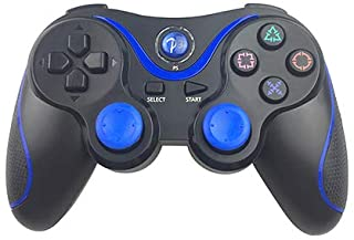 for Ps3 Wireless Bluetooth Gamepad Zealite Remote Control Joystick Pc Game Controller (Black+Blue)