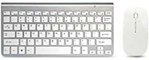 SKEIDO Wireless Keyboard and Mouse Combo Set 2.4G Wireless Keyboard Moues Combo for Apple Mac Windows XP/7/10 IOS white