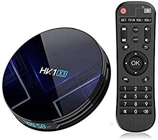 HK1 X3 4GB DDR3 RAM 64GB ROM Amlogic S905X3 Android 9.0 TV Box 8K @24fps 4K Ultra HD Support 2.4G/5.8G Dual WiFi BT 4.0 HD 2.1 USB 3.0 Newest TV Box