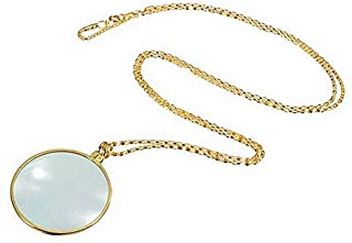 Decorative Monocle Necklace With 6x Magnifier Magnifying Glass Pendant Gold Silver Plated Chain Necklace For Women Jewelry