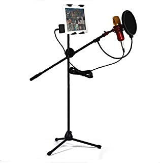 Adjustable Studio Microphone Floor Stand For Microphone With Windescreen Filter for music human