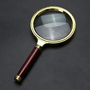 10X Magnifying Glass 60mm Portable Handheld Magnifier for Jewelry spaper Book Reading High Definition Eye Loupe Glass