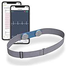 Personal ECG/EKG heart Monitor Wearable Chest Strap Bluetooth Heart Health Tracker Free App for iOS & Android Phone