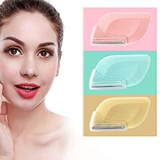 Glitz Derma Flash Eyebrow Razor For Women Tool Facial Razor For Women Face Peach Fuzz Facial Hair Fuzz On Face Upper Lip Eyebrow Trimmer Shaper Shaver Safty And Portable With Precision Cover 3 Razors