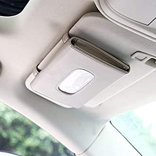 Car Sun Visor Tissue Box Holder PU Leather Paper Napkin Organizer Hanging Tissue Towel Case Car Interior Auto Accessories