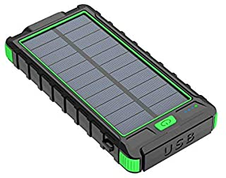 10000mah Solar panel Power Bank USB External LED flashlight Battery Portable Powerbank External battery charger