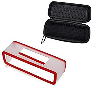 SKEIDO 2 in 1 Soft Carry Silicone Case +Hard EVA Travel Storage Case For Bose Soundlink Mini 1/Mini 2 Bluetooth Speaker Charging Cradle