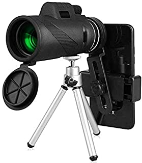 Beauenty 40x60 HD Monocular Telescope With Tripod Cell Phone Holder,Compass and Low Light Night Vision for Outdoor Birding Travel Sightseeing Hunting