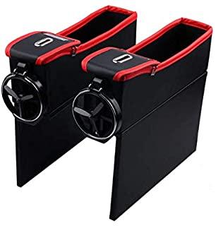 Car Storage Box Organizer Seat Gap PU Leather Case Pocket Car Seat Side Slit For Wallet Phone Coins Cigarette Keys