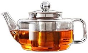 500ml High Borosilicate Glass Teapot with Stainless Steel Strainer and Lid
