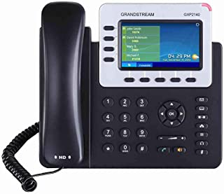 Customizable GXP2140 grandstream IP phone with 4.3 inch LCD Bluetooth headset provision